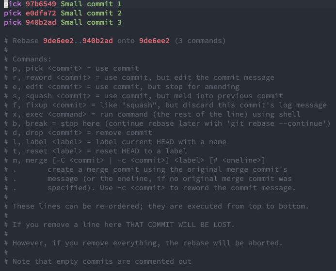 Git rebase interactive