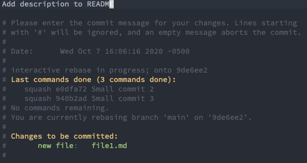 Update commit message